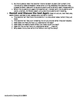 Small Group Reading Plan Template