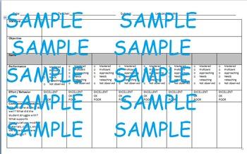 Small Group Reading/Math Checklist & IEP Progress Monitori
