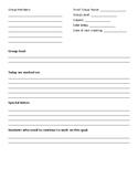 Small Group Recording Sheet **editable**