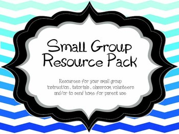 Small Group Resource Pack (Everything you need for volunteers or parents!)