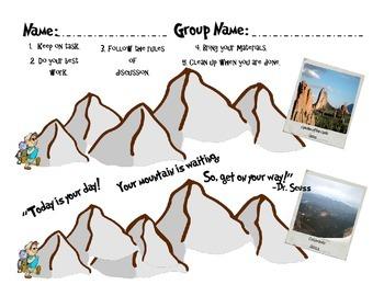 Small Group Reward Tracker Sheets