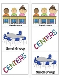 Small Group and Center Rotation Chart