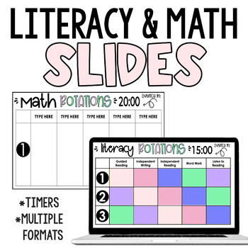 Small Group Rotation Schedule for Literacy Centres/Daily 5/Daily 3 ELA Blocks