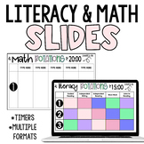 Editable Small Group Rotation Schedule for Literacy and Math Centres