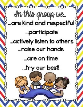 Small Group Rules {Great for reading or math groups!}
