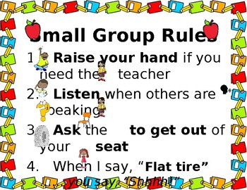 Small Group Rules for Resource Room