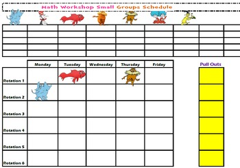 Small Group Schedule: Dr. Seuss Theme