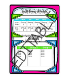 Small Group Schedule Editable