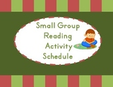 Small Group Schedule KG Reading Wonders