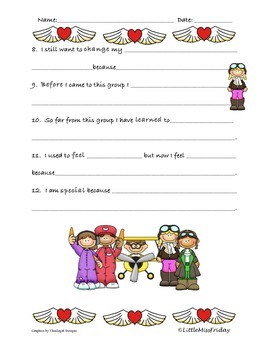 Small Group Sentence Completion Worksheet