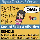 Small Group Counseling Social Skills Bundle for Emotions and Reactions