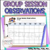Small Group Session Observation Trackers