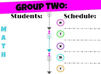 Small Group Signs - Reading and Math