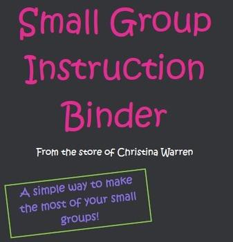 Small Group Simplicity Binder