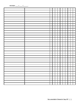 Small Group Speech Therapy Data Collection Template [editable]