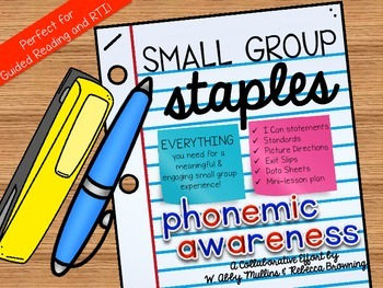 Small Group Staples Phonemic Awareness Intervention