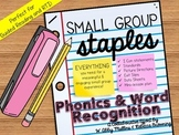 Small Group Staples: Phonics Intervention Curriculum