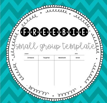 Small Group Template