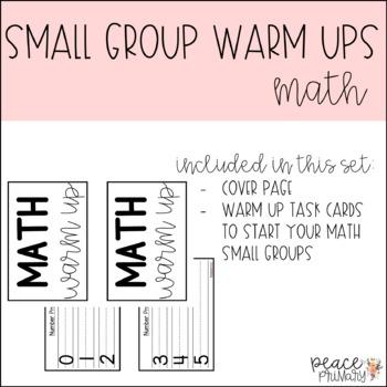 Small Group Warm Up:: Math