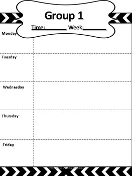 Small Group Weekly Lesson Plan Template