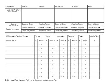 Small Group Weekly Planning Template