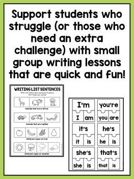Small Group Writing Lessons for Second Grade - BUNDLE