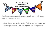 Small Group and Guided Reading Parent Report