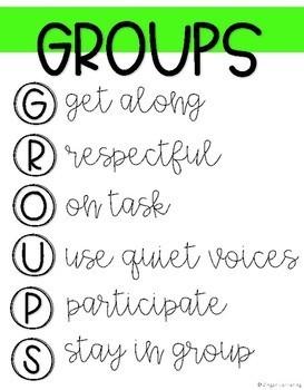 Small Groups Anchor Charts