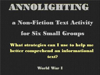 Small Groups Annolighting an Informational Text:  World War I