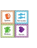 Small Groups Labels- Legends of the Hidden Temple Themed