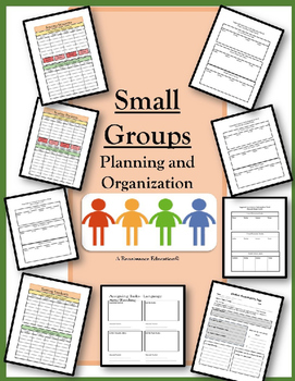 Small Groups Planning and Instruction Templates