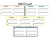 Small Groups Poster