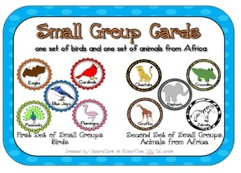Small Groups- Posters, Cards, and CLIP ART  (2 sets of groups w/ animals)