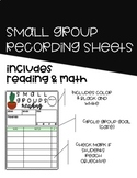 Small Group Lesson Planning Sheets