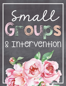 Small Groups and Intervention Binder