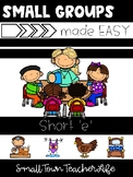 Small Groups made EASY- Short E Word Family Unit