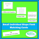 Calculus - Small Individual Slope Field Matching Cards