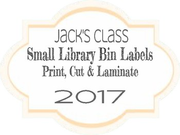 Small Library Bin Labels
