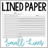 Small Lined Paper