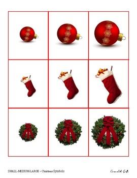 Small-Medium-Large - Christmas symbols