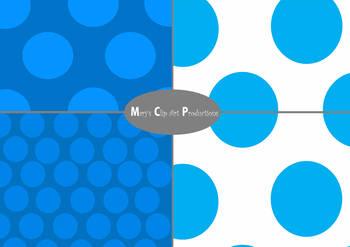 Small, Medium & Large Polka Dot Digital Paper