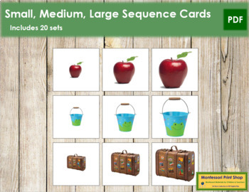 Small, Medium, Large - Sizing Cards