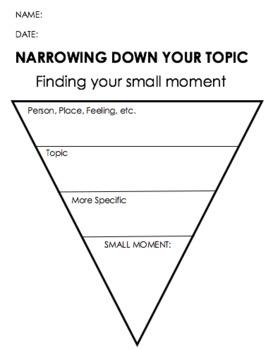 Small Moment Graphic Organizers