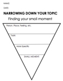 Small Moment Graphic Organizers