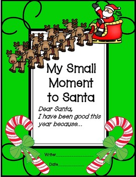 Small Moment Letter to Santa
