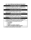 Small Moment Narrative Lucy Calkins Writing Checklist
