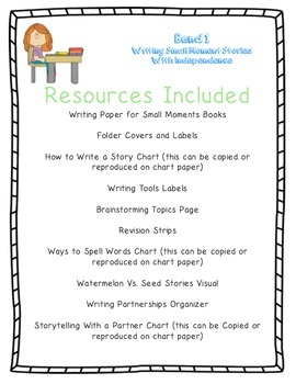 Small Moment Narrative Writing Printable Resources and Conference Sheet