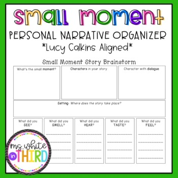 small moment personal narrative graphic organizer lucy calkins. Black Bedroom Furniture Sets. Home Design Ideas