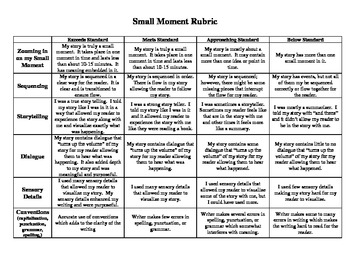 Small Moment Rubric