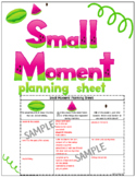 Small Moment Student Planning Sheet